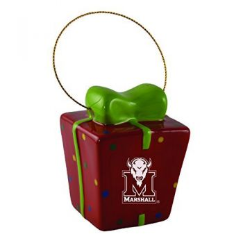 Marshall University-3D Ceramic Gift Box Ornament