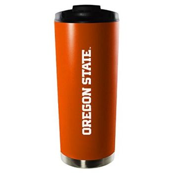Oregon State University-16oz. Stainless Steel Vacuum Insulated Travel Mug Tumbler-Orange