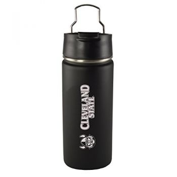 Cleveland State University -20 oz. Travel Tumbler-Black