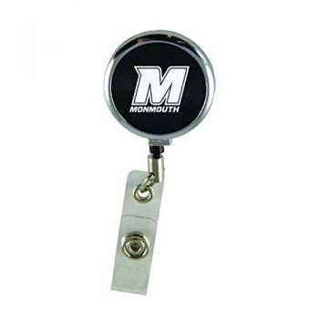 Monmouth University-Retractable Badge Reel-Black