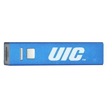 University of Illinois at Chicago - Portable Cell Phone 2600 mAh Power Bank Charger - Blue