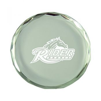 Rider University-Crystal Paper Weight