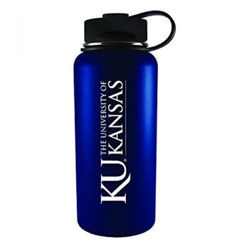 The University of Kansas-32 oz. Travel Tumbler-Blue
