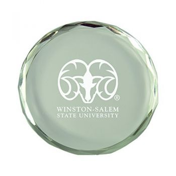 Winston-Salem State University-Crystal Paper Weight