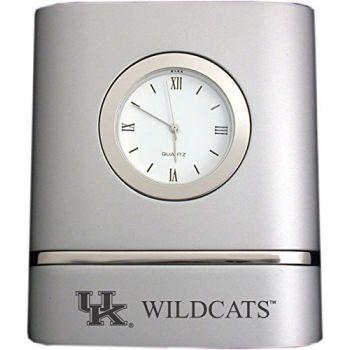 University of Kentucky- Two-Toned Desk Clock -Silver