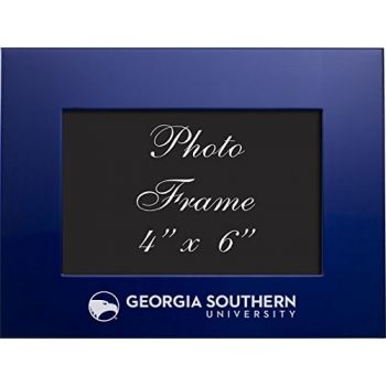 Georgia Southern University - 4x6 Brushed Metal Picture Frame - Blue