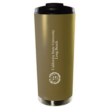 California State University, Long Beach-16oz. Stainless Steel Vacuum Insulated Travel Mug Tumbler-Gold