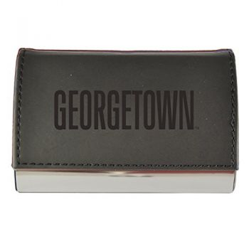 Velour Business Cardholder-Georgetown University-Black