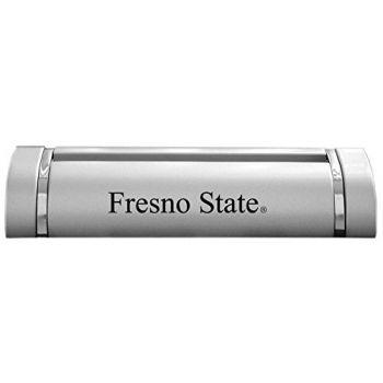 California State University, Fresno-Desk Business Card Holder -Silver