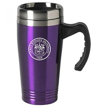 James Madison University-16 oz. Stainless Steel Mug-Purple