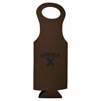 Xavier University-Velour Wine Tote-Brown