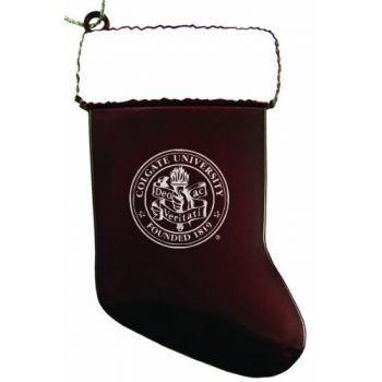 Colgate University - Chirstmas Holiday Stocking Ornament - Burgundy