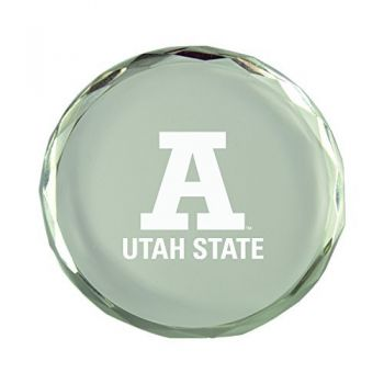 Utah State University-Crystal Paper Weight