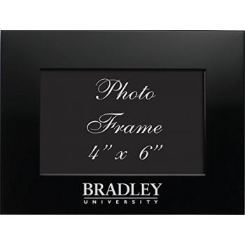 Bradley University - 4x6 Brushed Metal Picture Frame - Black