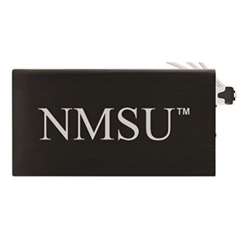 8000 mAh Portable Cell Phone Charger-New Mexico State-Black