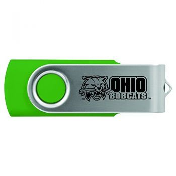 Ohio University -8GB 2.0 USB Flash Drive-Green