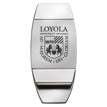 Loyola University Chicago - Two-Toned Money Clip - Silver