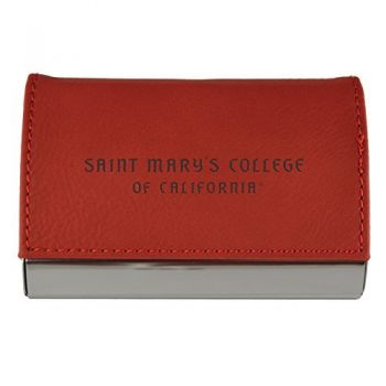 Velour Business Cardholder-Saint Mary's College of California-RED