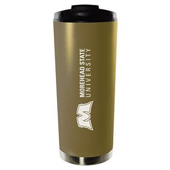Morehead State University-16oz. Stainless Steel Vacuum Insulated Travel Mug Tumbler-Gold