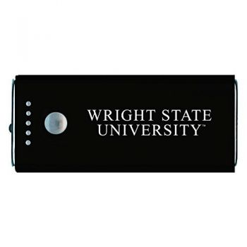 Wright State university -Portable Cell Phone 5200 mAh Power Bank Charger -Black