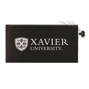 8000 mAh Portable Cell Phone Charger-Xavier University-Black