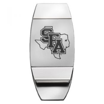 Stephen F. Austin State University - Two-Toned Money Clip - Silver