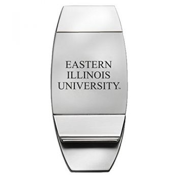 Eastern Illinois University - Two-Toned Money Clip - Silver