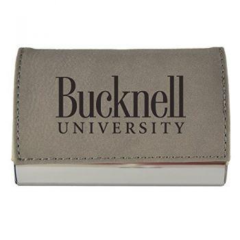 Velour Business Cardholder-Bucknell University-Grey