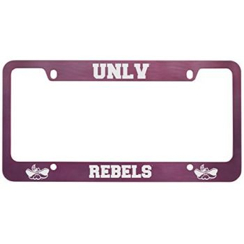 University of Nevada Las Vegas-Metal License Plate Frame-Pink