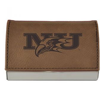 Velour Business Cardholder-Niagara University-Brown