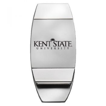 Kent State University - Two-Toned Money Clip - Silver