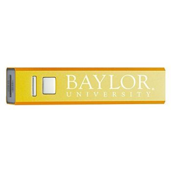 Baylor University - Portable Cell Phone 2600 mAh Power Bank Charger - Gold