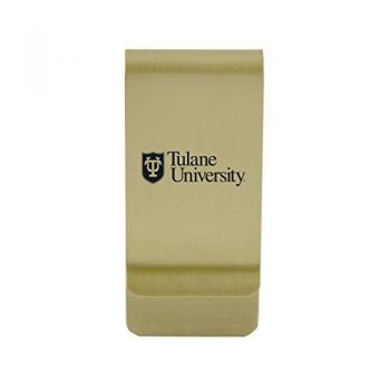 Troy University|Money Clip with Contemporary Metals Finish|Solid Brass|High Tension Clip to Securely Hold Cash, Cards and ID's|Silver