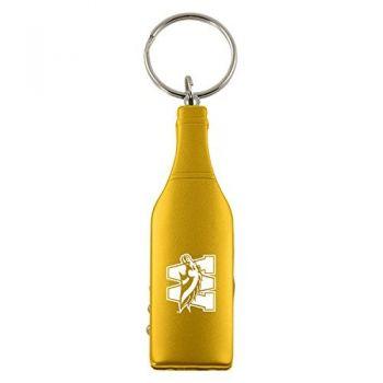 Western Michigan University-Wine Shaped Bottle Opener-Gold