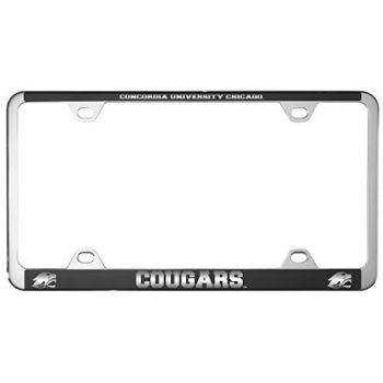 Concordia University Chicago -Metal License Plate Frame-Black