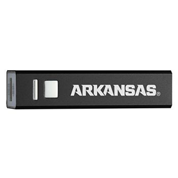 University of Arkansas - Portable Cell Phone 2600 mAh Power Bank Charger - Black
