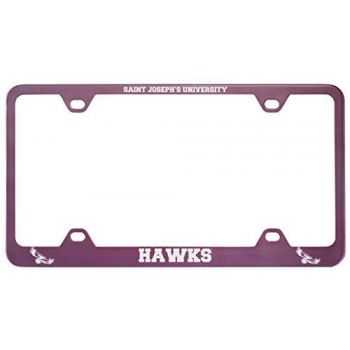 Saint Joseph's university -Metal License Plate Frame-Pink