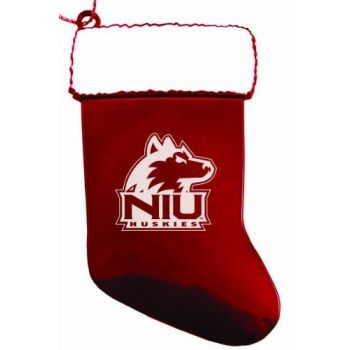 Northern Illinois University - Chirstmas Holiday Stocking Ornament - Red