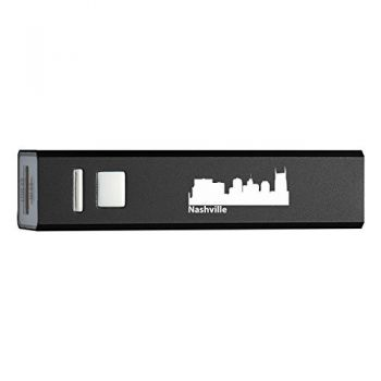 Nashville, Tennessee-Portable 2600 mAh Cell Phone Charger-BLK