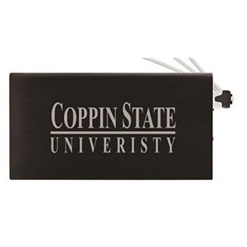 8000 mAh Portable Cell Phone Charger-Coppin State University -Black