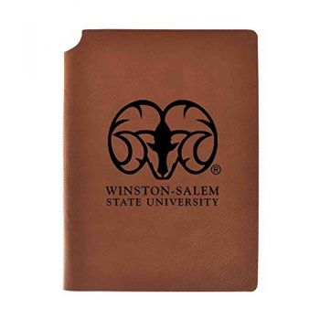 Winston-Salem State University Velour Journal with Pen Holder|Carbon Etched|Officially Licensed Collegiate Journal|