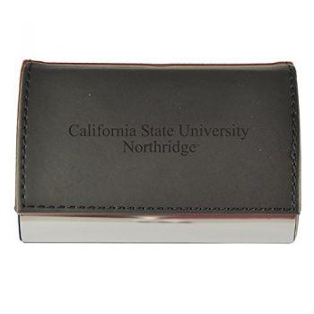 Velour Business Cardholder-California State University, Northridge-Black
