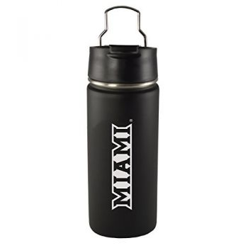 Miami University -20 oz. Travel Tumbler-Black