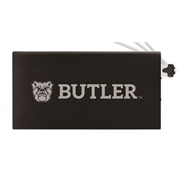 8000 mAh Portable Cell Phone Charger-Butler University -Black