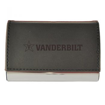 Velour Business Cardholder-Vanderbilt University-Black