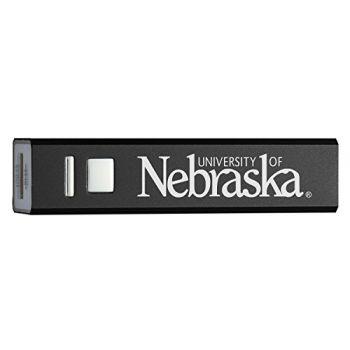University of Nebraska - Portable Cell Phone 2600 mAh Power Bank Charger - Black
