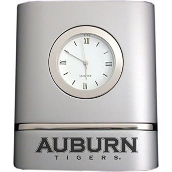 Auburn University- Two-Toned Desk Clock -Silver