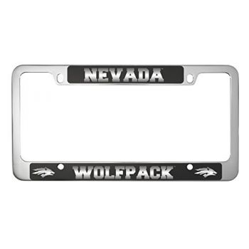 University of Nevada -Metal License Plate Frame-Black