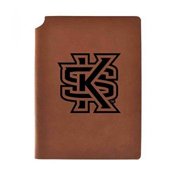 Kennesaw State University Velour Journal with Pen Holder|Carbon Etched|Officially Licensed Collegiate Journal|