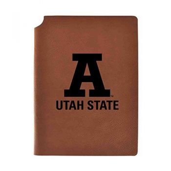 Utah State University Velour Journal with Pen Holder|Carbon Etched|Officially Licensed Collegiate Journal|